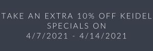 Keidel Specials 10% Discount